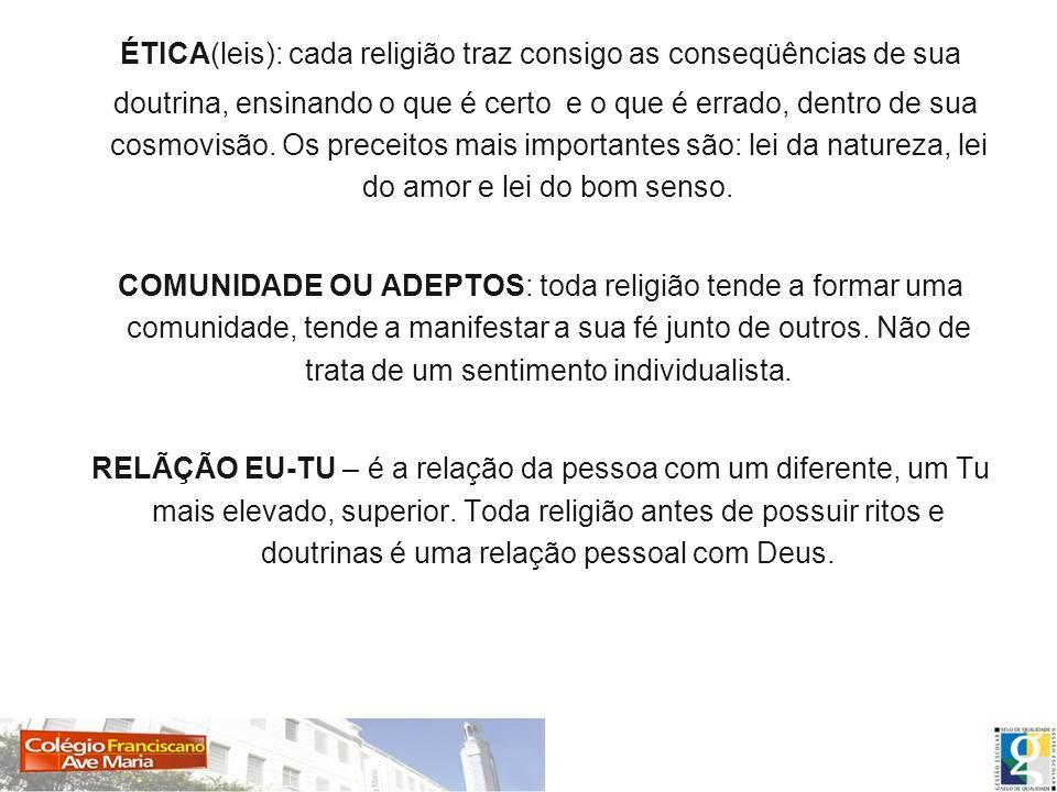ÉTICA(leis): cada religião traz consigo as conseqüências de sua