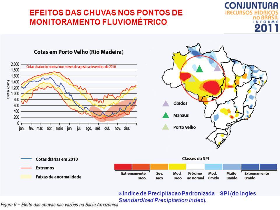 EFEITOS DAS CHUVAS NOS PONTOS DE MONITORAMENTO FLUVIOMÉTRICO
