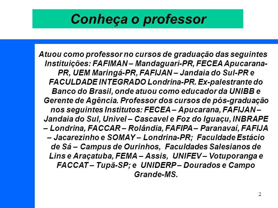 Conheça o professor