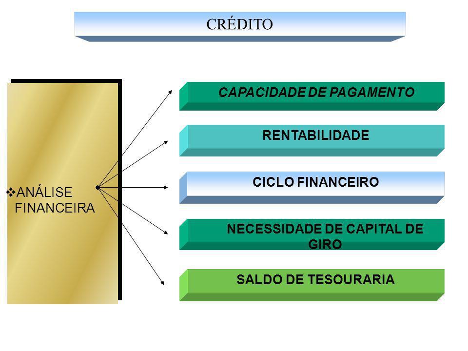 CAPACIDADE DE PAGAMENTO NECESSIDADE DE CAPITAL DE GIRO