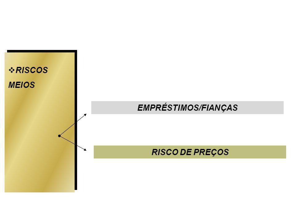 RISCOS MEIOS EMPRÉSTIMOS/FIANÇAS RISCO DE PREÇOS