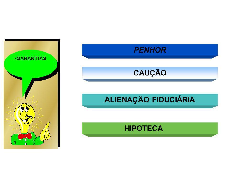 PENHOR CAUÇÃO ALIENAÇÃO FIDUCIÁRIA