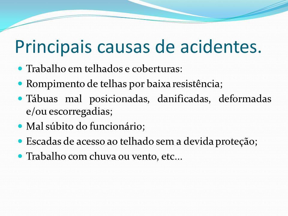 Principais causas de acidentes.