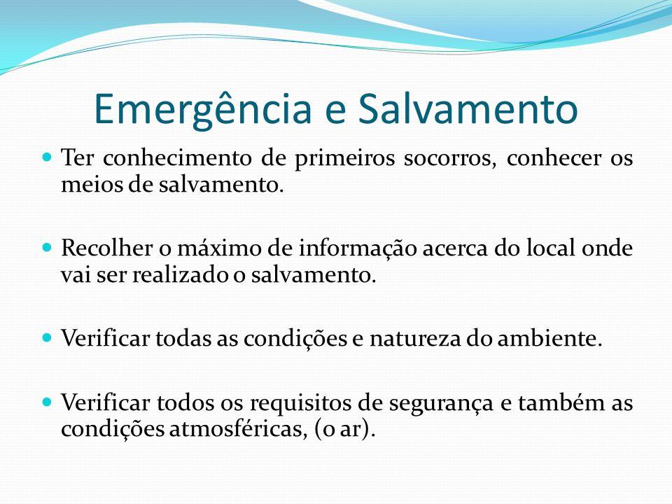 Emergência e Salvamento