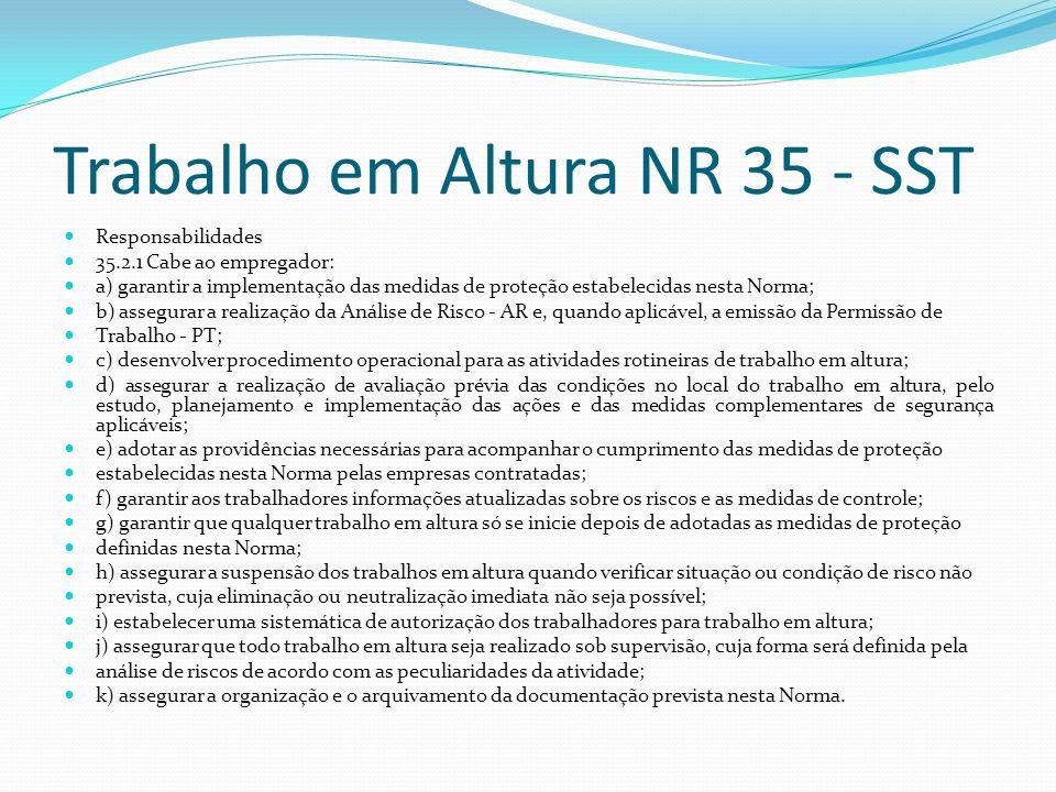 Trabalho em Altura NR 35 - SST