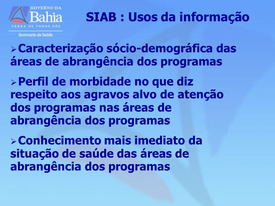 SIAB : Usos da informação