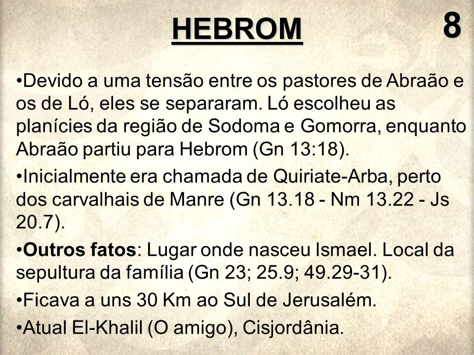 8 HEBROM.