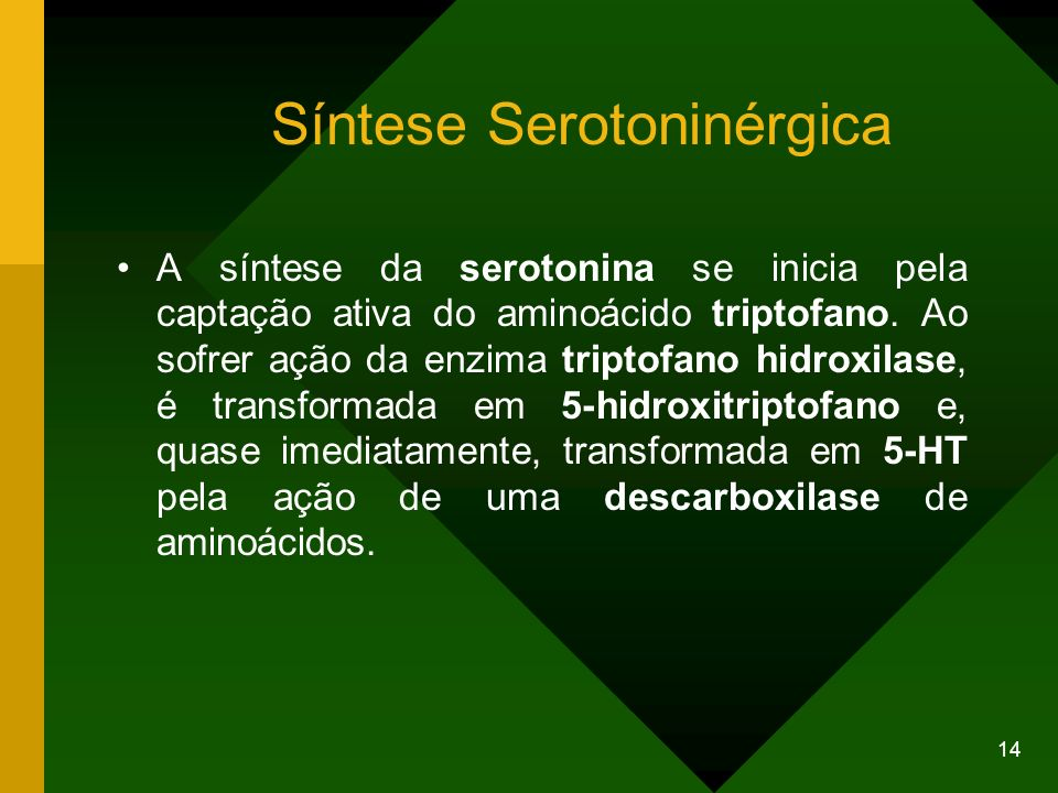 Síntese Serotoninérgica