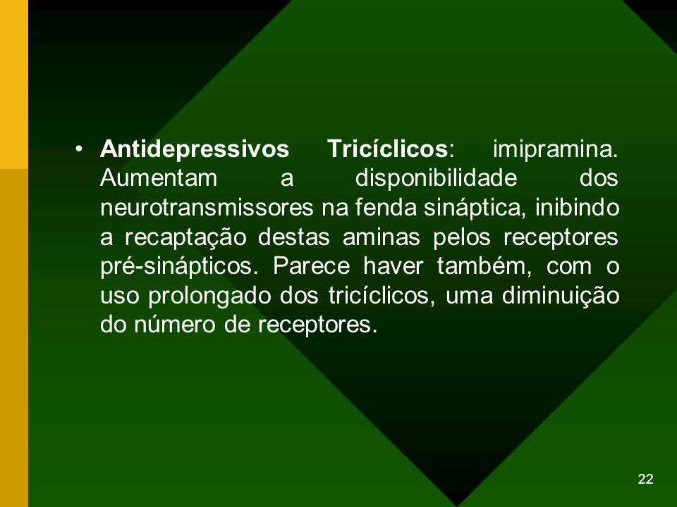 Antidepressivos Tricíclicos: imipramina
