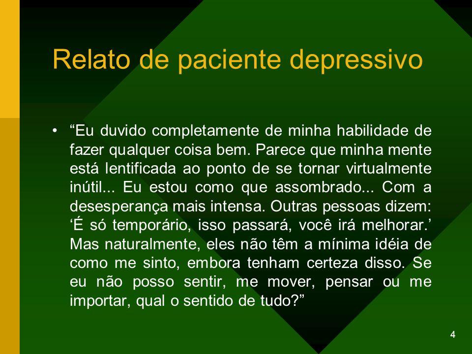 Relato de paciente depressivo