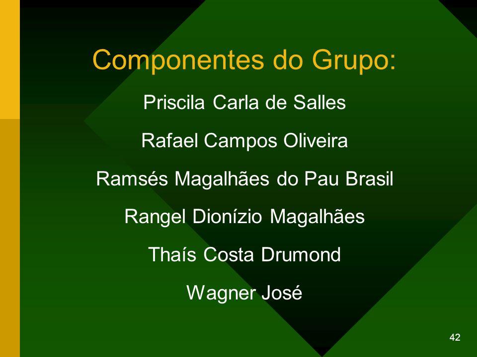 Componentes do Grupo: Priscila Carla de Salles Rafael Campos Oliveira