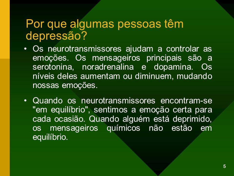 Por que algumas pessoas têm depressão