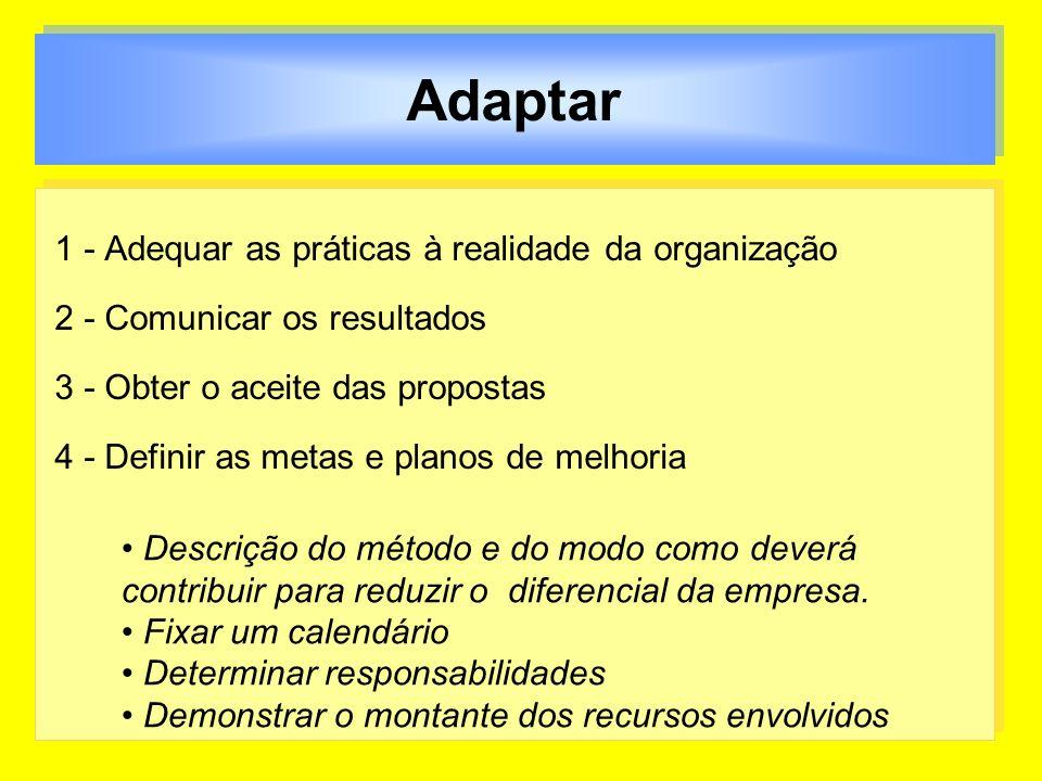 Adaptar 1 - Adequar as práticas à realidade da organização