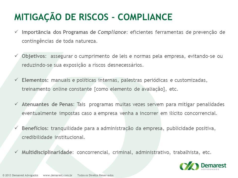MITIGAÇÃO DE RISCOS - COMPLIANCE