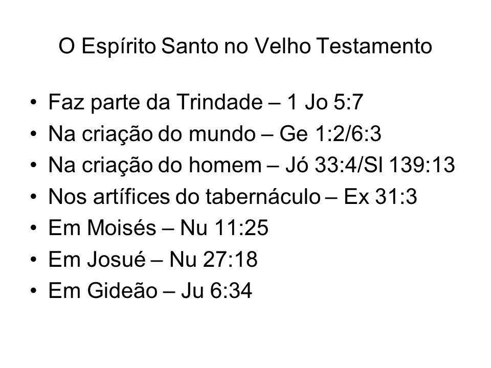 O Espírito Santo no Velho Testamento