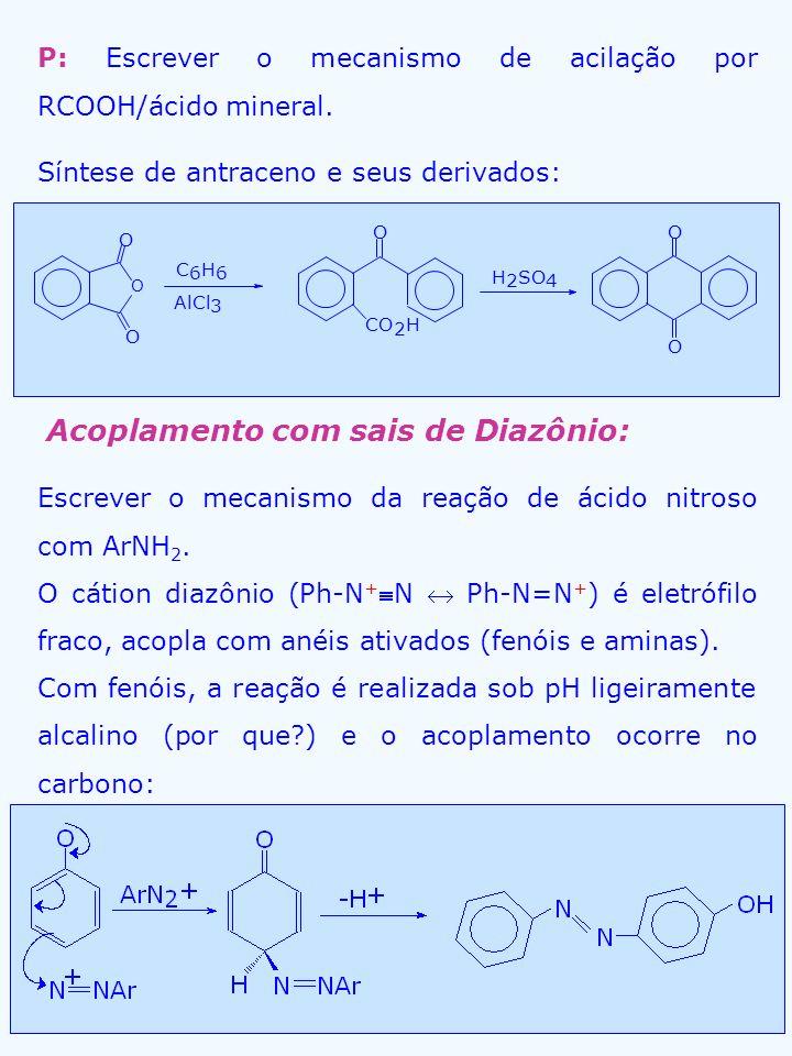 Acoplamento com sais de Diazônio: