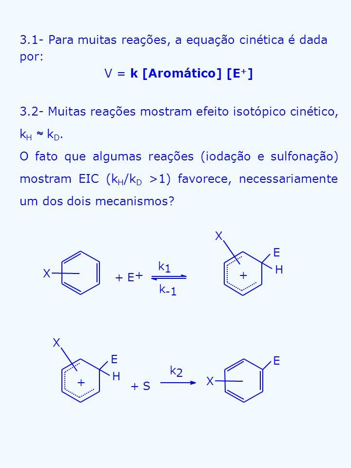 3.1- Para muitas reações, a equação cinética é dada por: