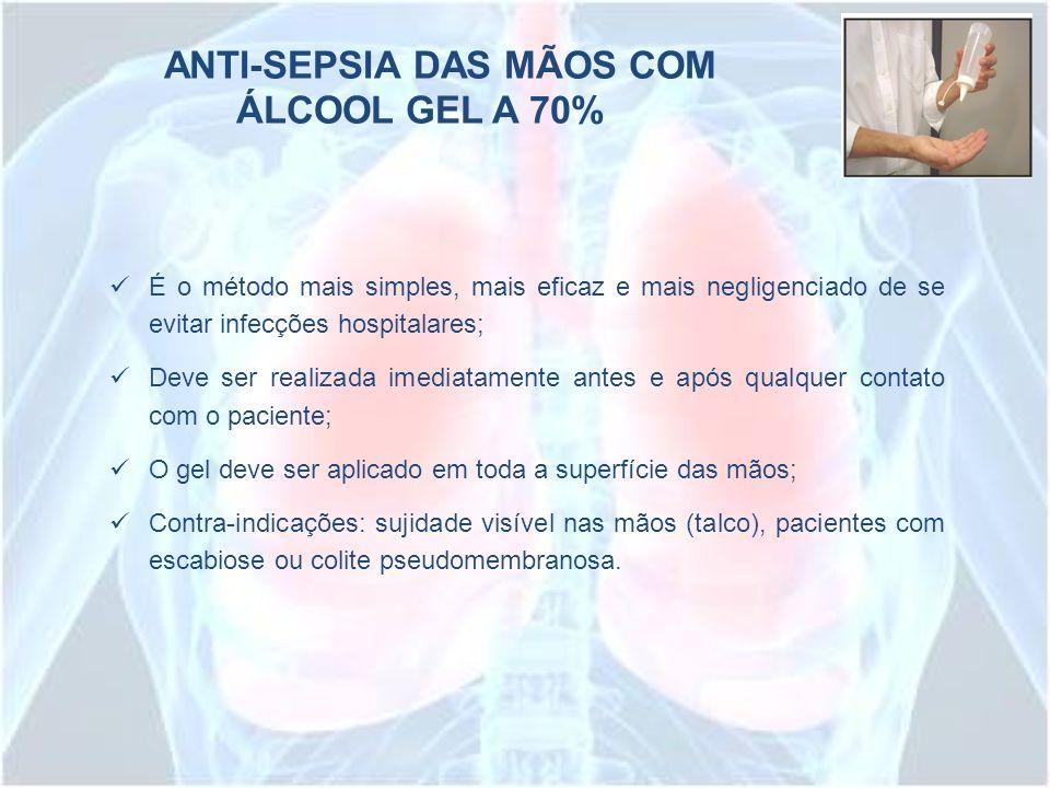 ANTI-SEPSIA DAS MÃOS COM ÁLCOOL GEL A 70%