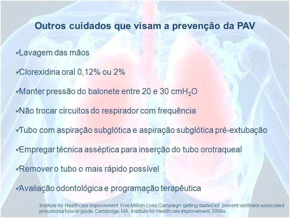 Outros cuidados que visam a prevenção da PAV