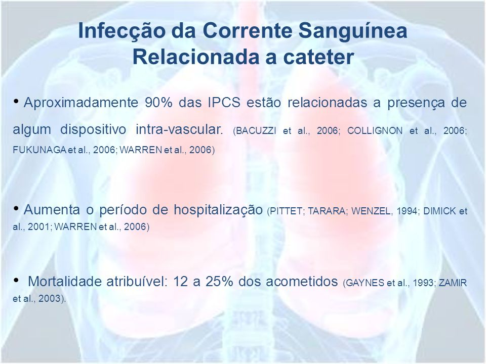 Infecção da Corrente Sanguínea Relacionada a cateter