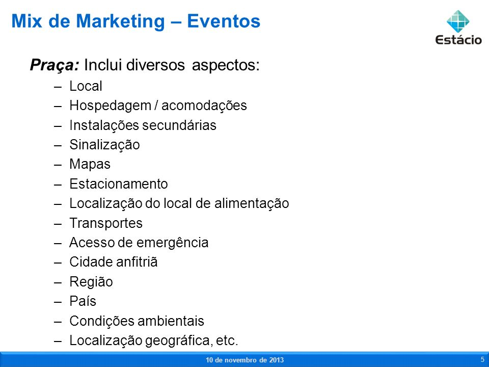 Mix de Marketing – Eventos