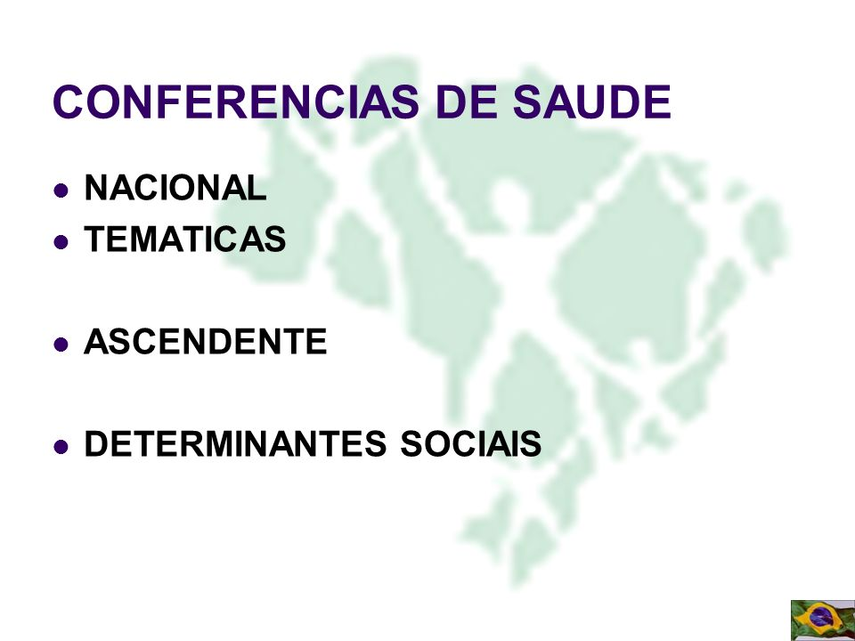 CONFERENCIAS DE SAUDE NACIONAL TEMATICAS ASCENDENTE