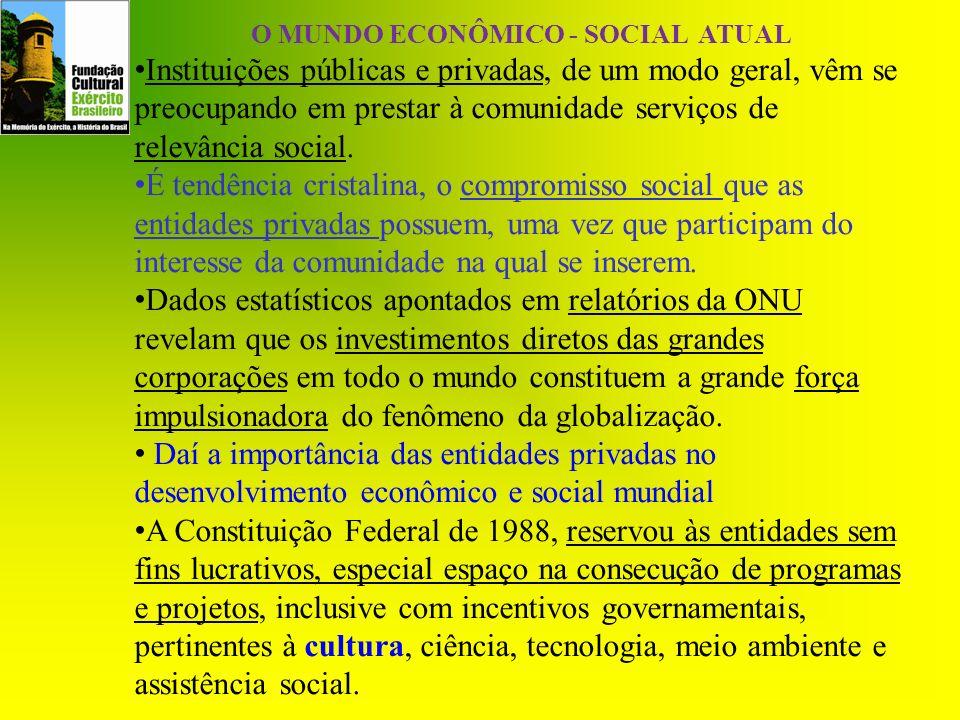 O MUNDO ECONÔMICO - SOCIAL ATUAL