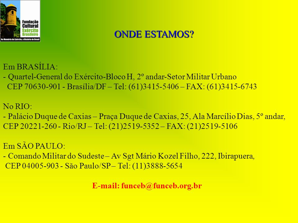 E-mail: funceb@funceb.org.br