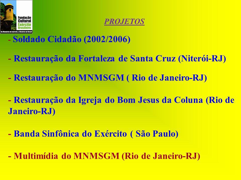 - Restauração da Fortaleza de Santa Cruz (Niterói-RJ)