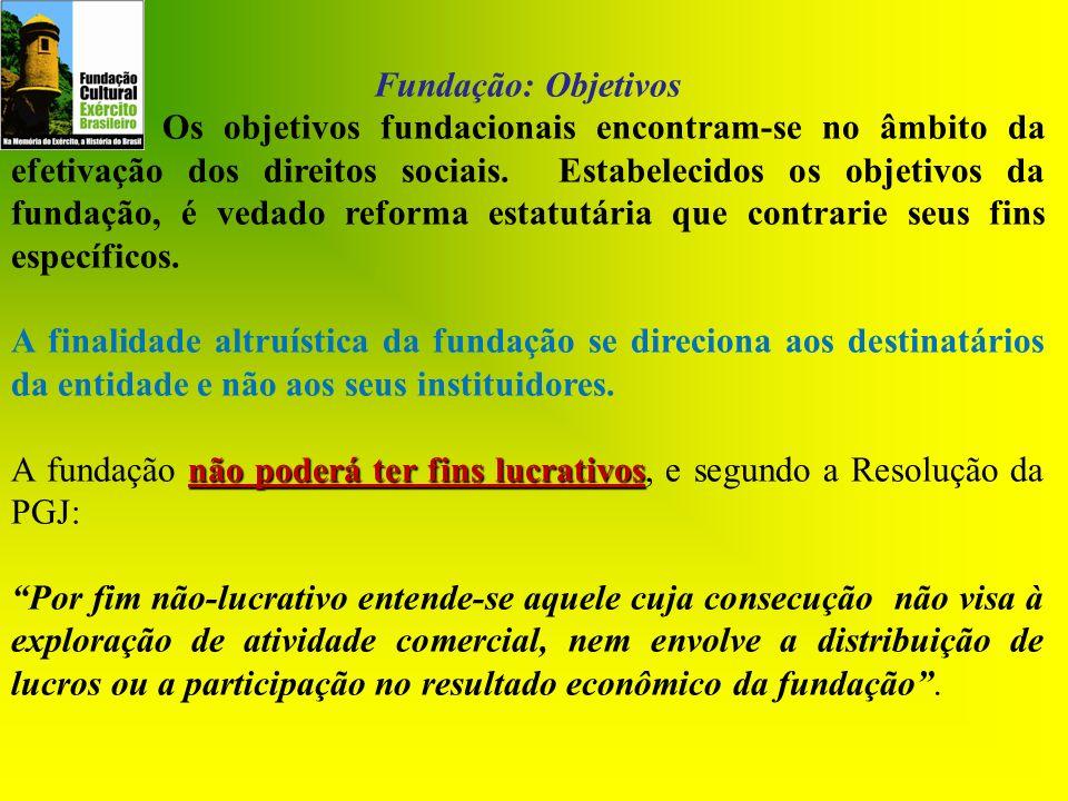 Fundação: Objetivos