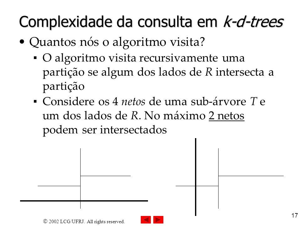 Complexidade da consulta em k-d-trees