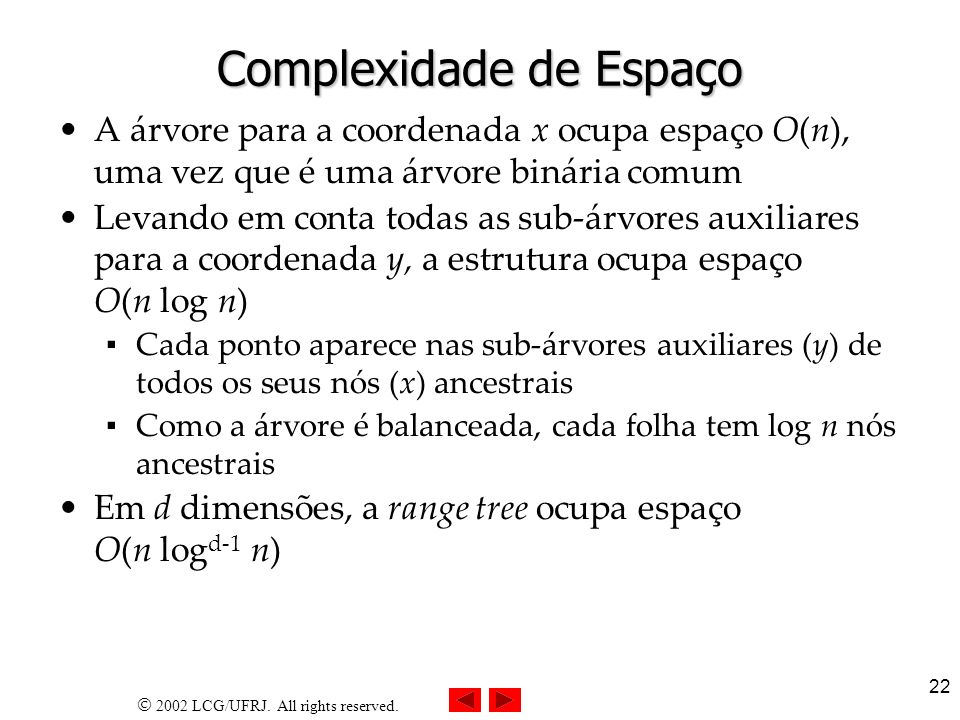 Complexidade de Espaço