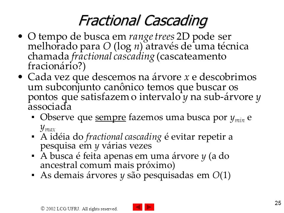 Fractional Cascading