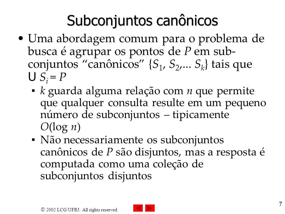 Subconjuntos canônicos