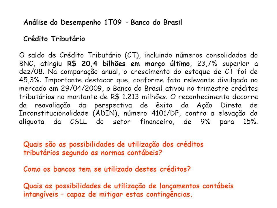 Análise do Desempenho 1T09 - Banco do Brasil