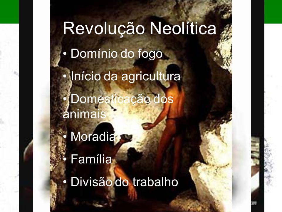 Revolução Neolítica Domínio do fogo Início da agricultura