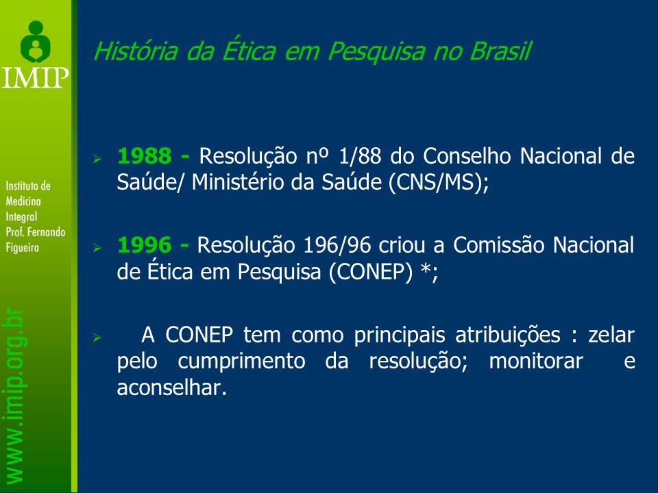 História da Ética em Pesquisa no Brasil
