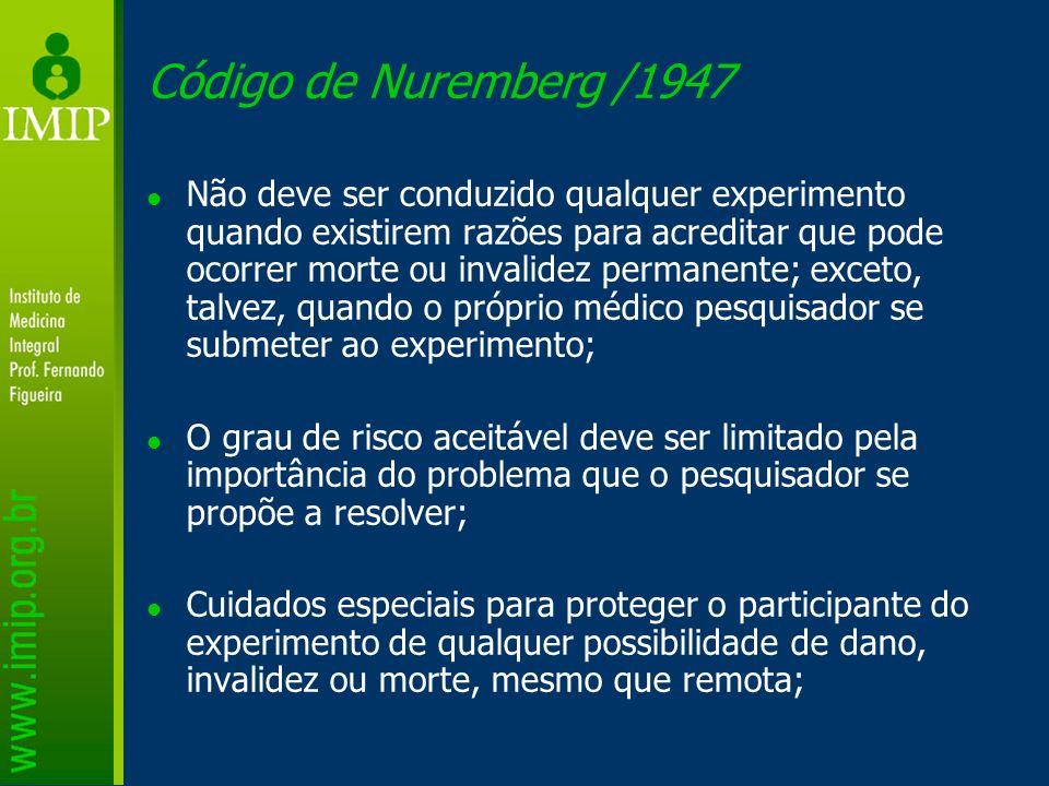 Código de Nuremberg /1947