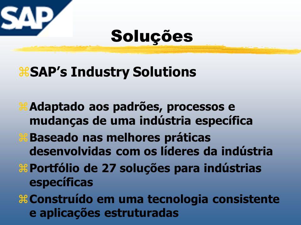 Soluções SAP's Industry Solutions