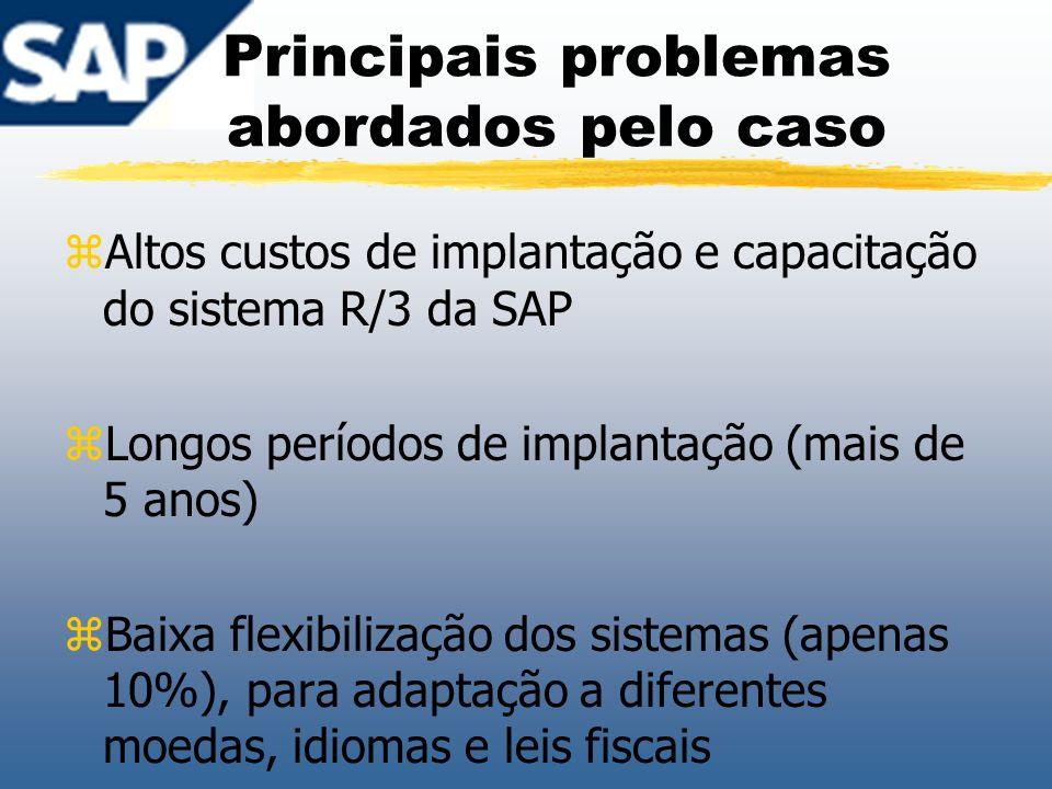 Principais problemas abordados pelo caso