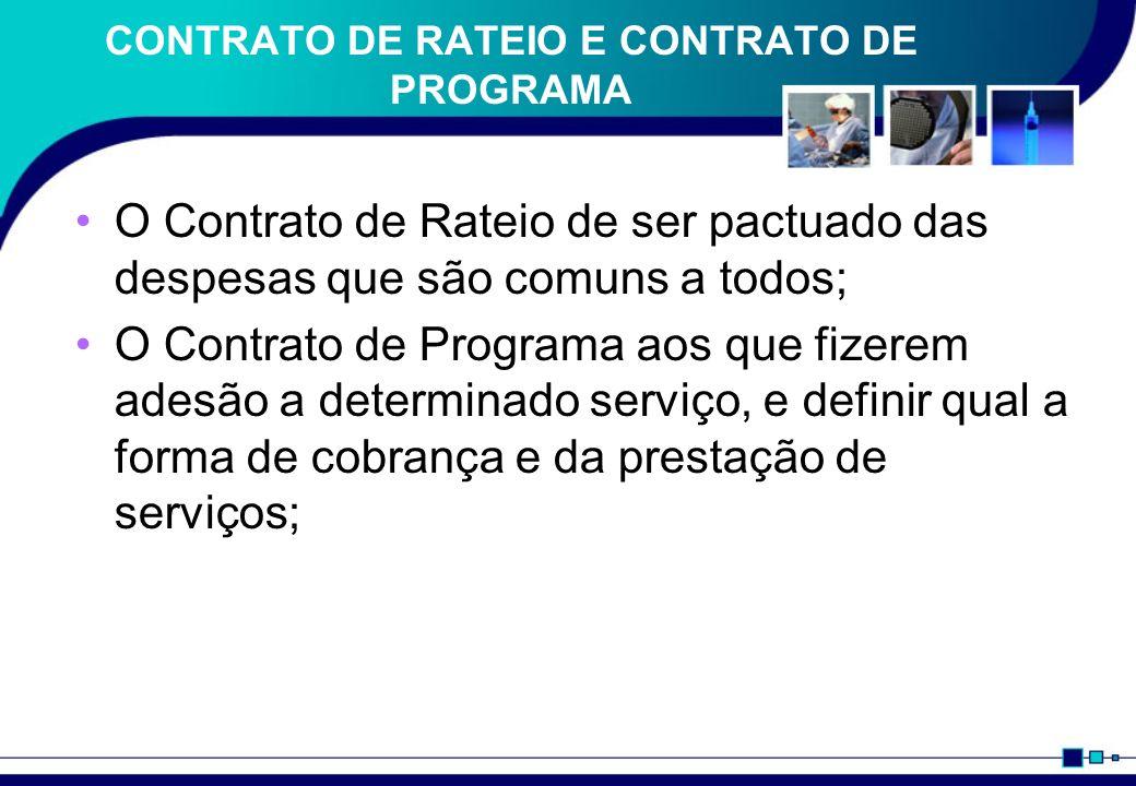 CONTRATO DE RATEIO E CONTRATO DE PROGRAMA