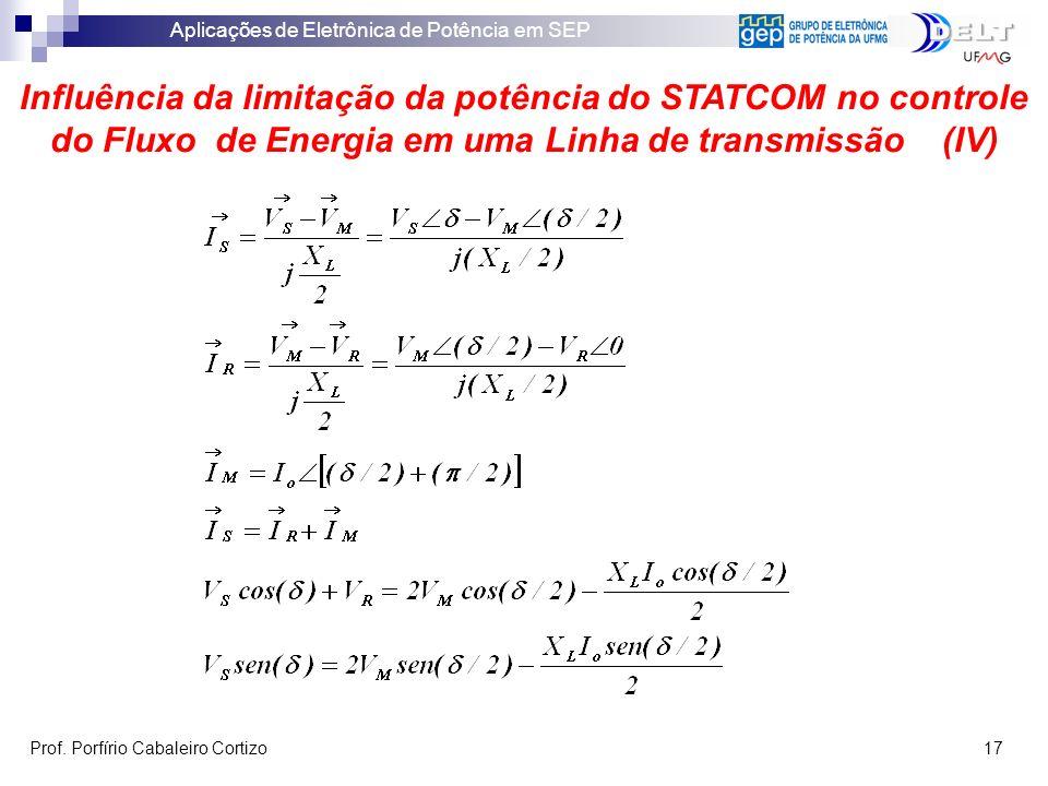 Influência da limitação da potência do STATCOM no controle do Fluxo de Energia em uma Linha de transmissão (IV)