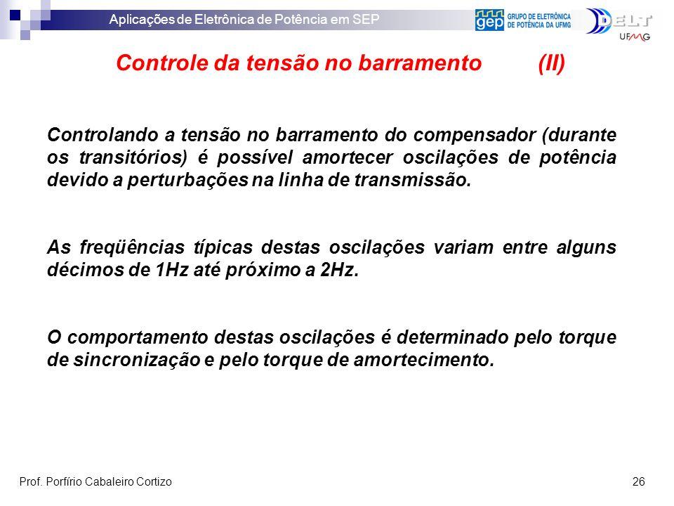 Controle da tensão no barramento (II)