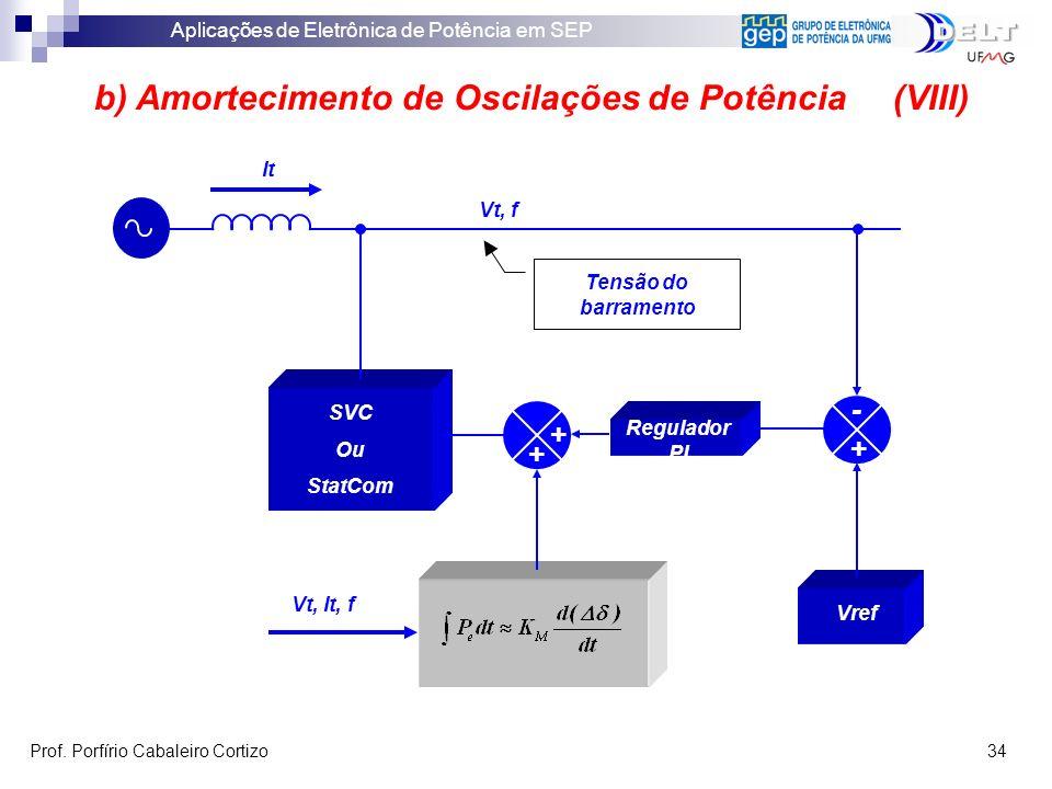 b) Amortecimento de Oscilações de Potência (VIII)