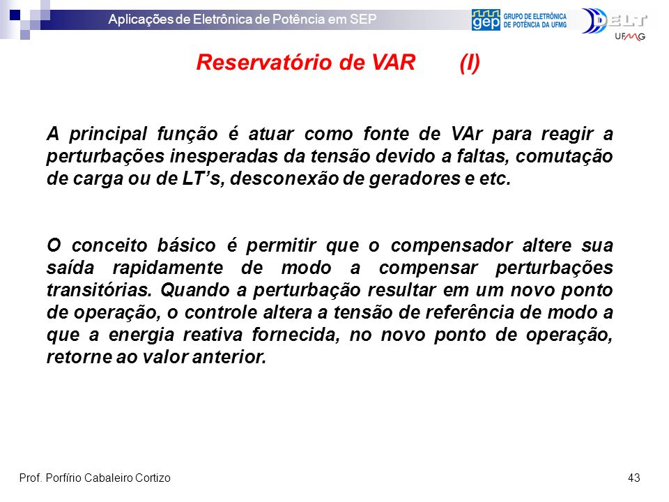Reservatório de VAR (I)