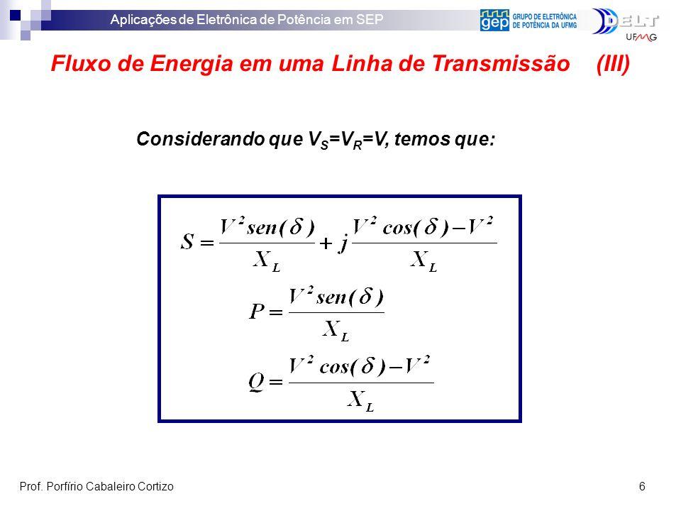 Fluxo de Energia em uma Linha de Transmissão (III)