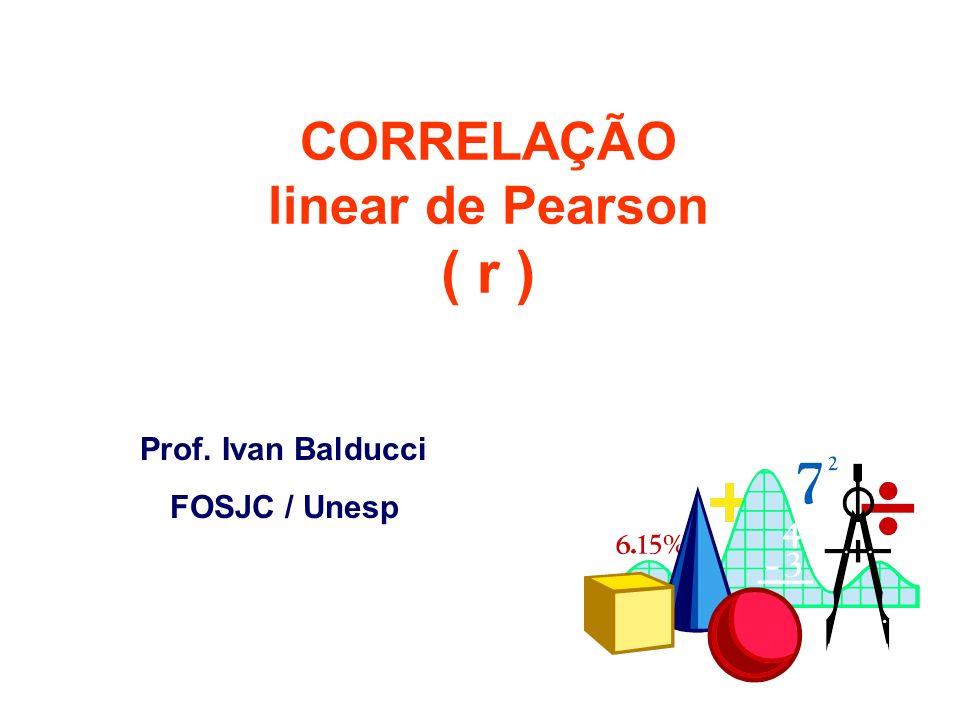 CORRELAÇÃO linear de Pearson ( r )