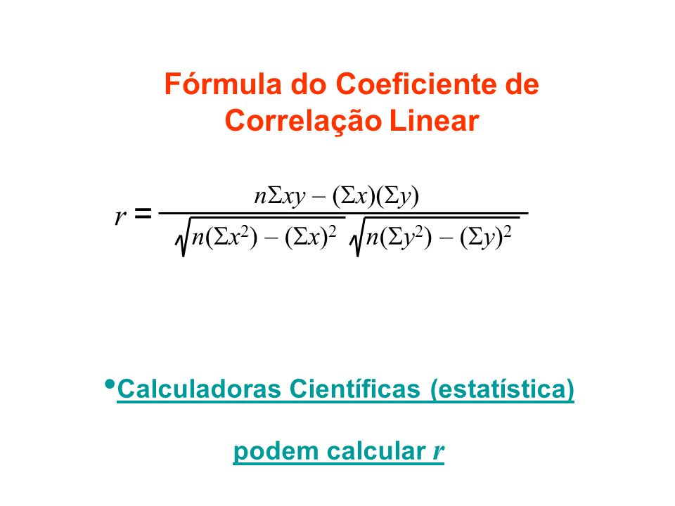 Fórmula do Coeficiente de Correlação Linear