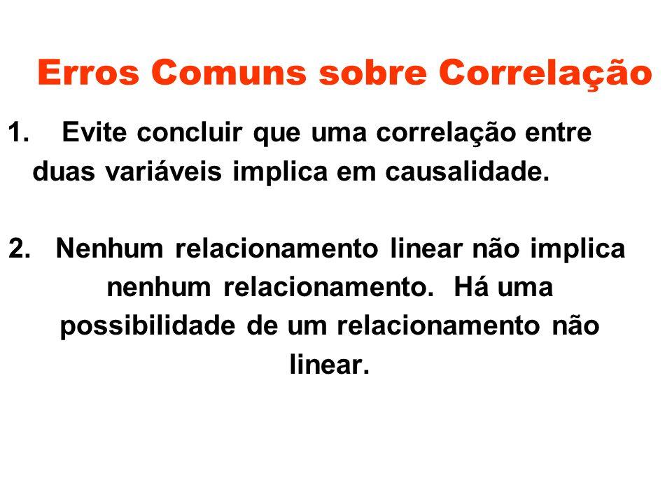 Erros Comuns sobre Correlação