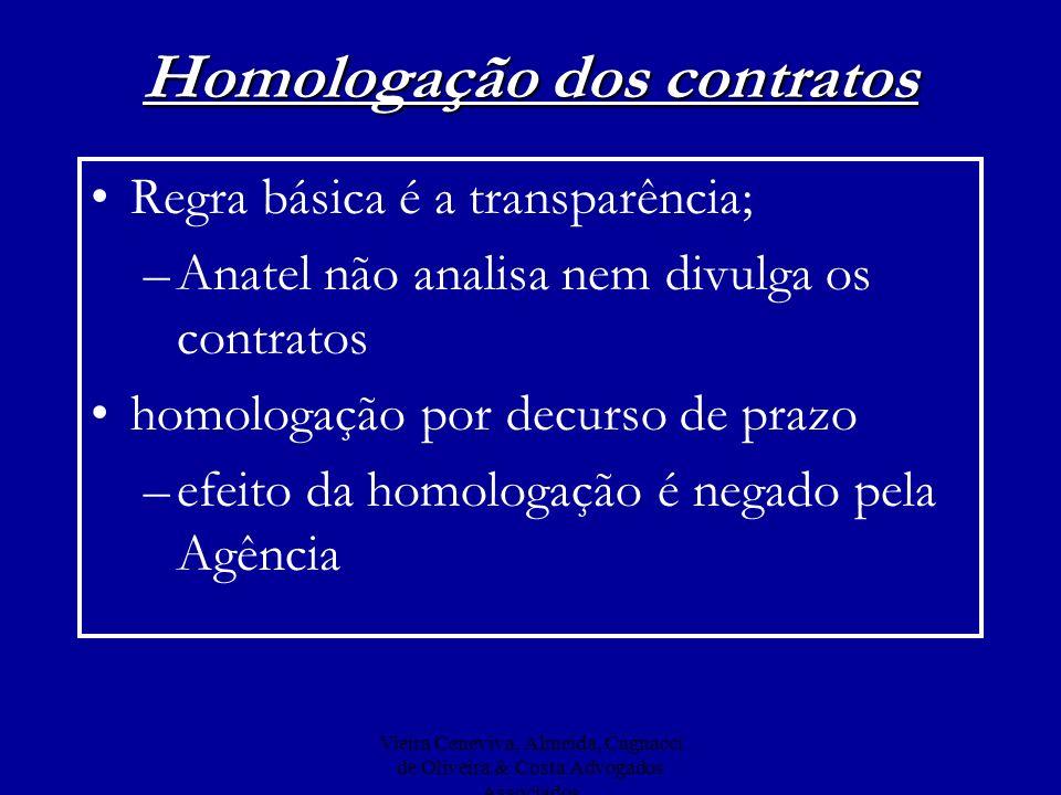 Homologação dos contratos